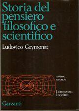 Mu0 Storia del pensiero filosofico e scientifico Geymonat vol. 2 Il cinquecento
