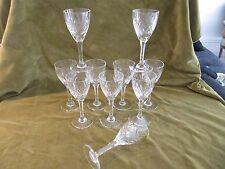10 verres à vin 8cl cristal Saint Louis Chantilly crystal wine glasses