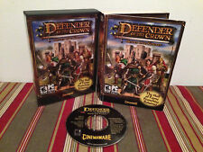 Defender of the Crown: Heroes Live Forever (PC, 2007) Case & disc
