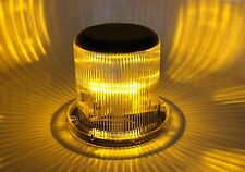 Solar Warning Light - Waterproof Solar Dock Lighting - AMBER LED - Continuous or