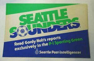 Vtg. 1970s Seattle Sounders FC Soccer Promo Sign Newspaper Box MLS - PH03
