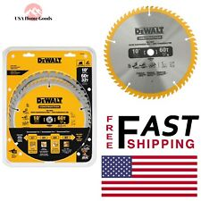 DEWALT Circular Saw Blade Assortment (2-Pack) 10 in. Miter Table Anti Stick Rim