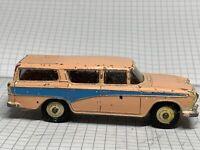 DINKY TOYS No.173 NASH RAMBLER ESTATE CAR PINK BODY WITH BLUE STRIPE WHITE TYRES