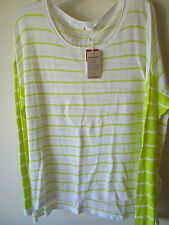 Ladies Target Linen Stripe Sweater Jumper Size XL
