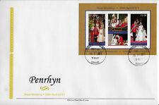 Penrhyn 2011 FDC Royal Wedding 2v Sheet Cover Prince William Kate Middleton
