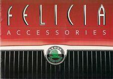 Skoda Felicia Accessories 1998-99 UK Market Sales Brochure Hatchback Estate