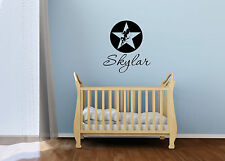 "25"" CUSTOM NAME FAIRY STAR VINYL DECAL STICKER Baby WALL ART"