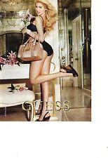 PUBLICITE ADVERTISING  2011  GUESS haute  couture sous vetements sacs