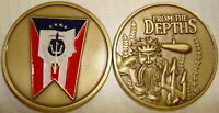 USS OHIO SSBN-726 NAVY SUBMARINE FROM THE DEPTHS MILITARY CHALLENGE COIN