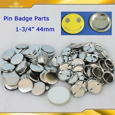"All Metal Pin Badge Button 500Sets 1-3/4"" 44mm  Supplies for Pro Button maker"