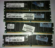 HP 1GB Kit (4x 256MB) PC2100 266MHz DDR Server Memory 261583-031