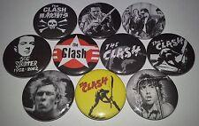 10 The Clash button badges 25mm Punk Rock Reggae The Ramones Sex Pistols Police
