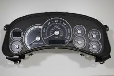 2000-02 REBUILT REPLACEMENT navy blue ESCALADE CLUSTER WHITE/SILVER *$100 REBATE