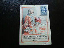FRANCE - carte 1er jour 14/3/1953 (journee du timbre) (cy54) french (A)