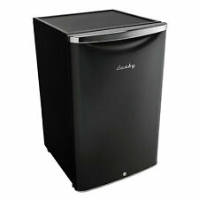 Danby 4.4 Cubic Feet Compact Sized Mini Beverage Refrigerator with Lock, Black