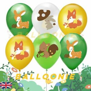 Woodland Animal Print Latex Balloons Birthday Party Decorations Wild Safari Toy