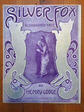 SILVER FOX TROT ragtime sheet music HENRY LODGE  DANCERS dance 1915