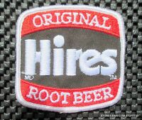 "HIRES ROOT BEER EMBROIDERED SEW ON PATCH ADVERTISING BEVERAGE SODA 3"" x 3"""