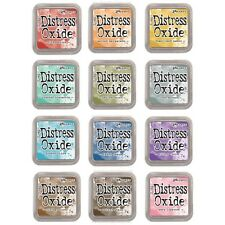 Full Set of 12 Tim Holtz Distress Oxide Ink Pads - Brand New for 2017 - Oxides