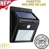 ATEC - Faretto Solare da Esterno IP65 (1PZ Faretto 20 Led)