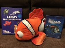 Disney Finding Nemo-Bundle Lot-DVD, Nemo Plush Toy & 365 histoire livre
