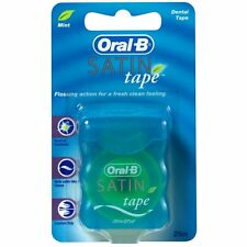 Oral-B Satin Tape 25m - Mint Dental Floss Pack of 12