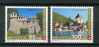 Switzerland 2017 MNH Pro Patria Fortresses & Castles 2v Set Architecture Stamps