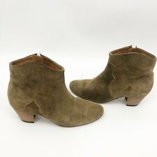 Isabel Marant Etoile The Dicker Taupe Suede  Ankle Boots  Sz 40 / 10