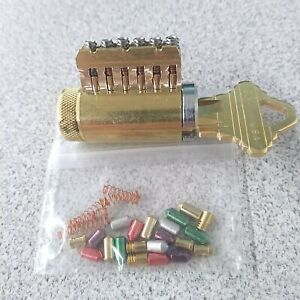 Rekeyable Cutaway Lock Cylinder 6 Pin Schlage Keyway With Spool-Serrated Pins