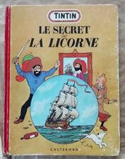 Tintin ; Le Secret de la Licorne HERGE éd Casterman rééd B7 1952
