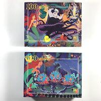 (2) Golden Disney The Little Mermaid + Ursula 100 Piece Puzzle Lot | Complete