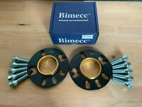 2 X 10mm BIMECC HUB CENTRIC WHEEL SPACERS + BOLTS VW 5X100  57.1 CB (72.6MM)