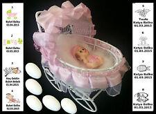 10x Gastgeschenke BABY Taufe Geburt Bebek Sekeri Mevlüt Kommunion Battesimo