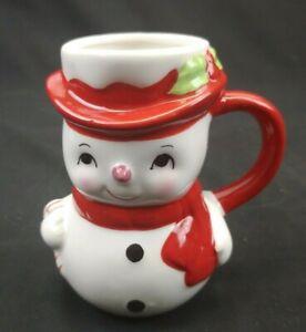 Pottery Barn Snow Man Christmas Figural Mug Discontinued, New