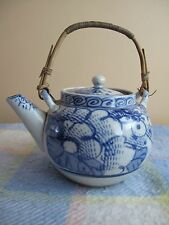 Antique 19th Chinese Blue & White Flower PORCELAINE théière
