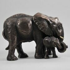 More details for bronze elephants statue sculpture african figurines elephant figures gifts decor