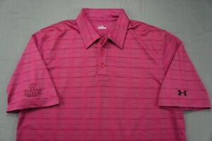 Under Armour Texture Striped Polo Golf Shirt. Double Tree Golf Resort. Men's L.