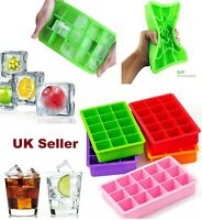 Silicone Square 15-Cavity Large Ice Cube Tray Maker Mold Mould Tray Jelly Tool