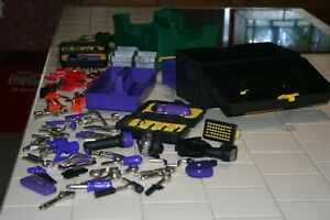 Vintage Playskool Cool Tools LARGE Lot w/ Tool Box,Gardening Tote&Over 55 Tools