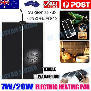 Reptile Pet Electric Heating Pad Bed Cat Dog Heat Mat Heated Warmer Bunny Heater