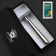 HARYALI LONDON ® DE Double Edge Safety Razor Steel Long handle with10 Free Blade
