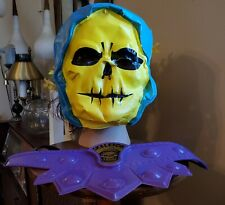 Vintage Mattel 1983 He-man MOTU Skeletor Halloween Costume Mask & Belt