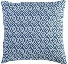 Indian Hand Block Print Cushion Cover Cotton Ethnic Indigo Pillows 16X16 Throw