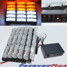 Racing Warning Emergency Hazard Strobe Light 54 LED Amber White Local Off Road