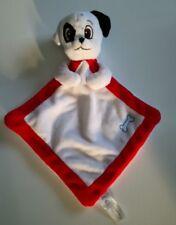 Doudou Plat Chien Dalmatien Mouchoir Blanc Liseret Rouge Os Disney Nicotoy