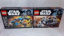 LEGO Star Wars Bounty Hunter Speeder Bike & First Order Transport Speeder Lot