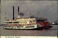 Schiffsfoto-AK Binnenschiff Schiff River Ship USA Steamboat NATCHEZ Raddampfer