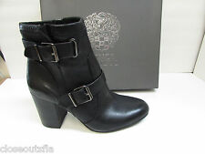 Vince Camuto Size 6 Leather Black Ankle Boots New Womens Shoes