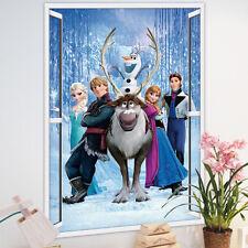 XXL 3D Sticker Eiskönigin Frozen Elsa Anna Olaf Fenster Wandtattoo Geschenk