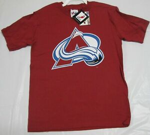 Colorado Avalanche Youth T-Shirt Roy Majestic Small 100% Cotton NHL Team Logo